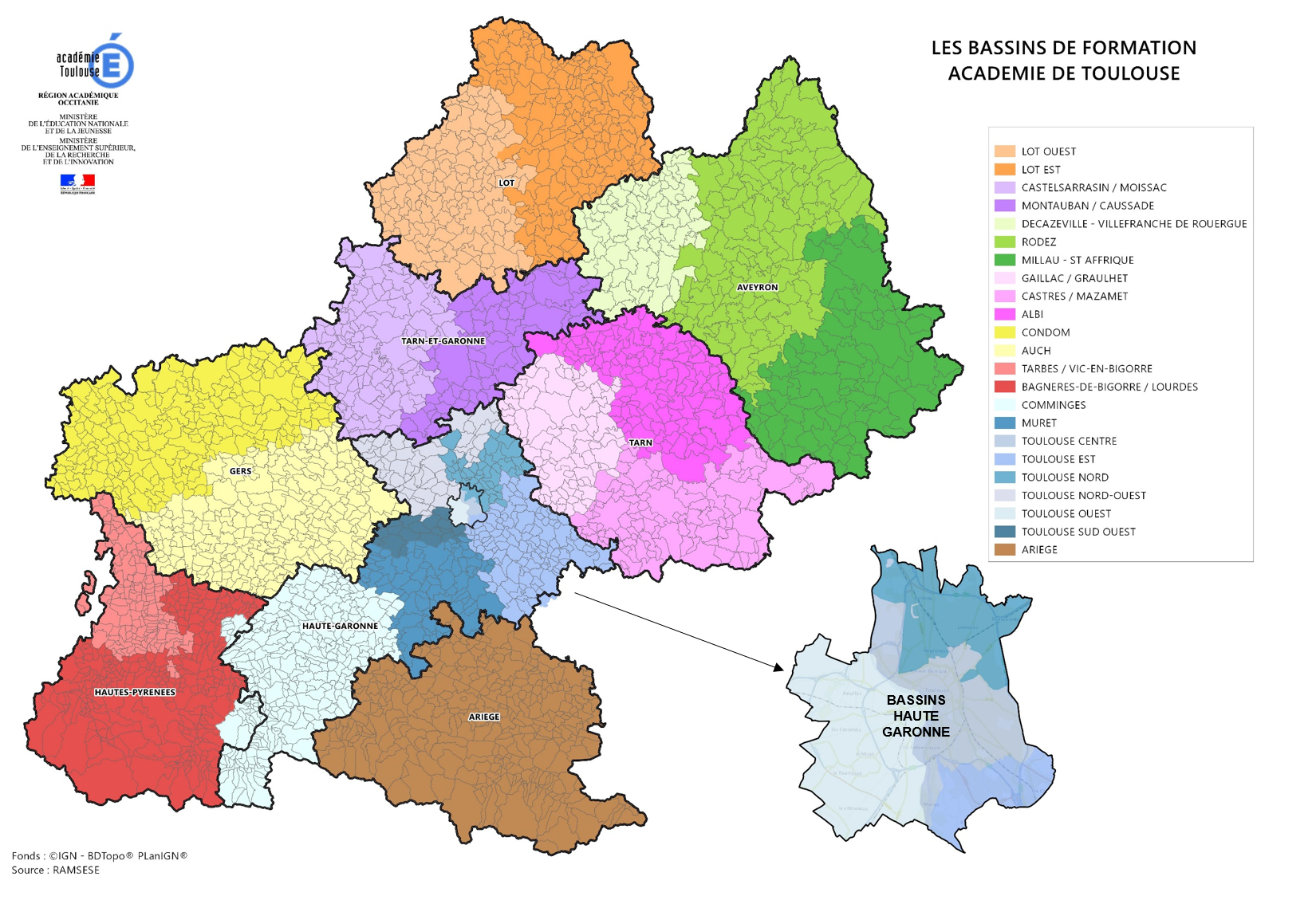 Carte des bassins